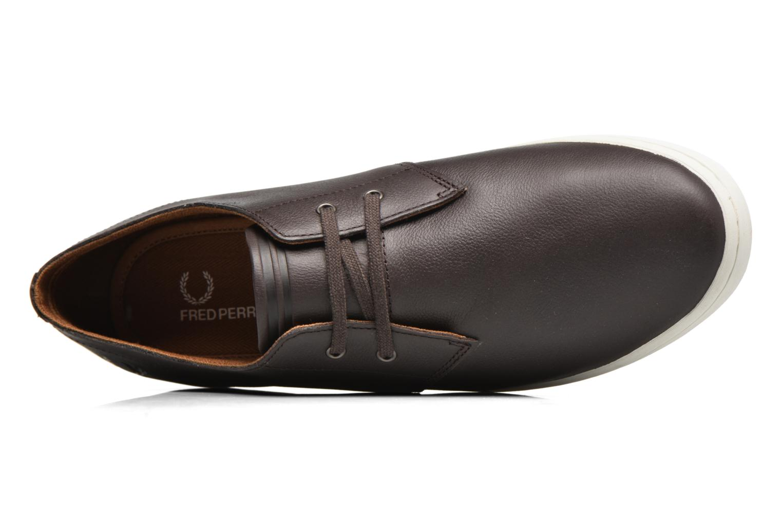 Baskets Fred Perry Byron Low Suede Marron vue gauche