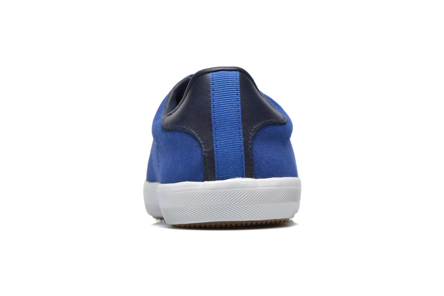 Baskets Fred Perry Howells Suede Bleu vue droite