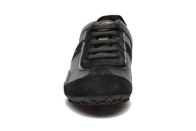 Baskets Geox D SNAKE B D5412B Noir vue portées chaussures