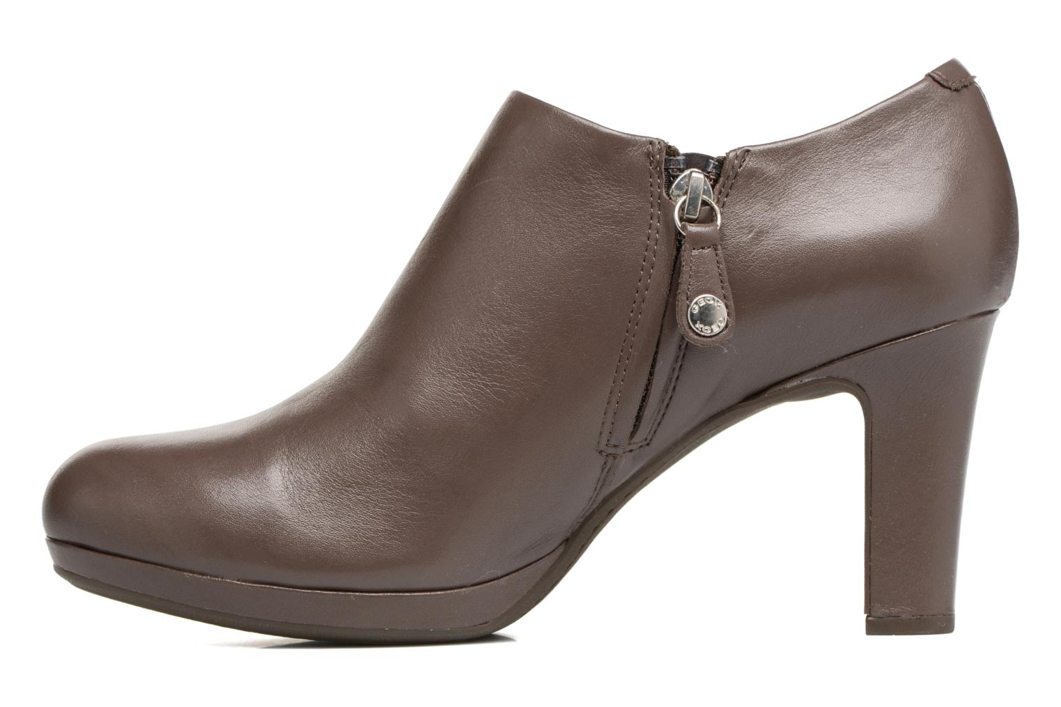 Bottines et boots Geox D LANA B D54Q6B Marron vue face