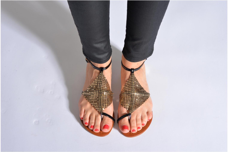 Sandales et nu-pieds La Strada Joly Noir vue bas / vue portée sac