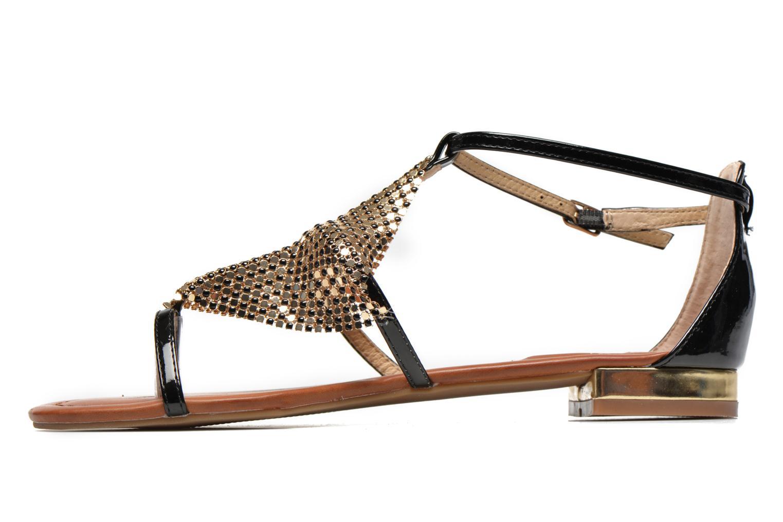 Sandales et nu-pieds La Strada Joly Noir vue face
