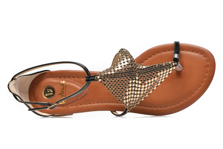 Sandales et nu-pieds La Strada Joly Noir vue gauche