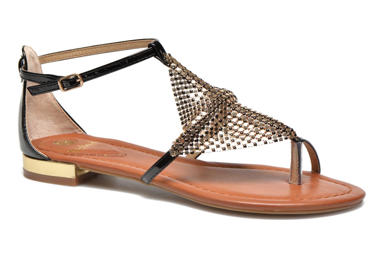 Sandales et nu-pieds La Strada Joly Noir vue détail/paire