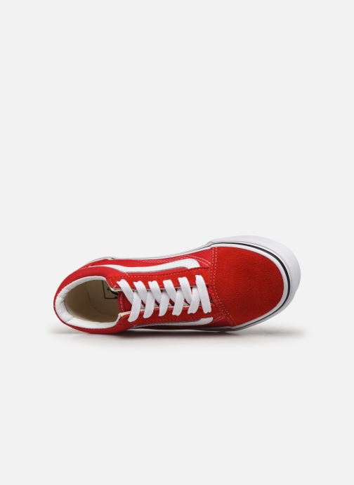 Baskets Vans Old Skool E Rouge vue gauche