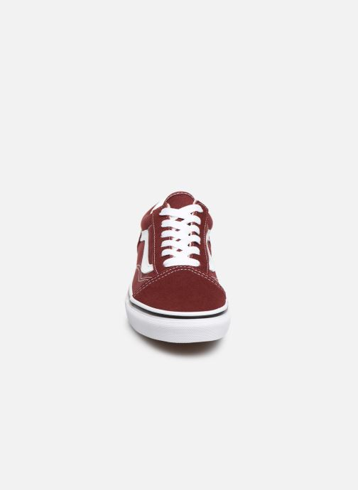 Trainers Vans Old Skool E Burgundy model view