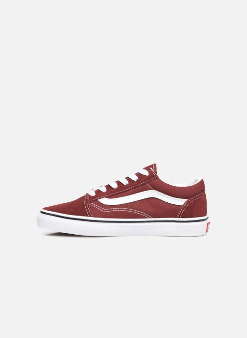 Trainers Vans Old Skool E Burgundy front view