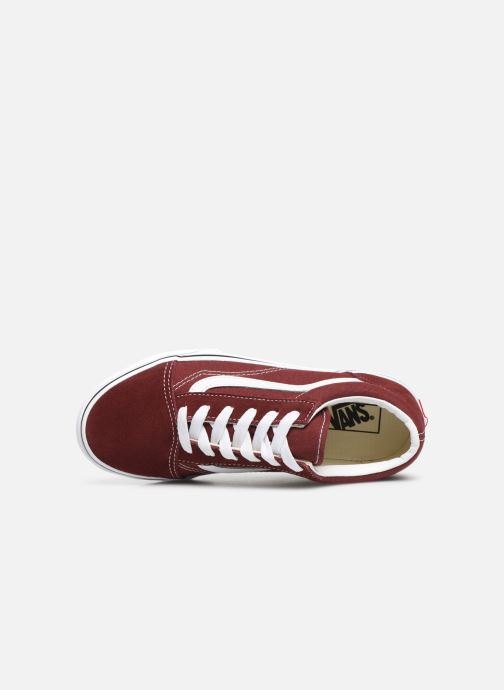 Trainers Vans Old Skool E Burgundy view from the left