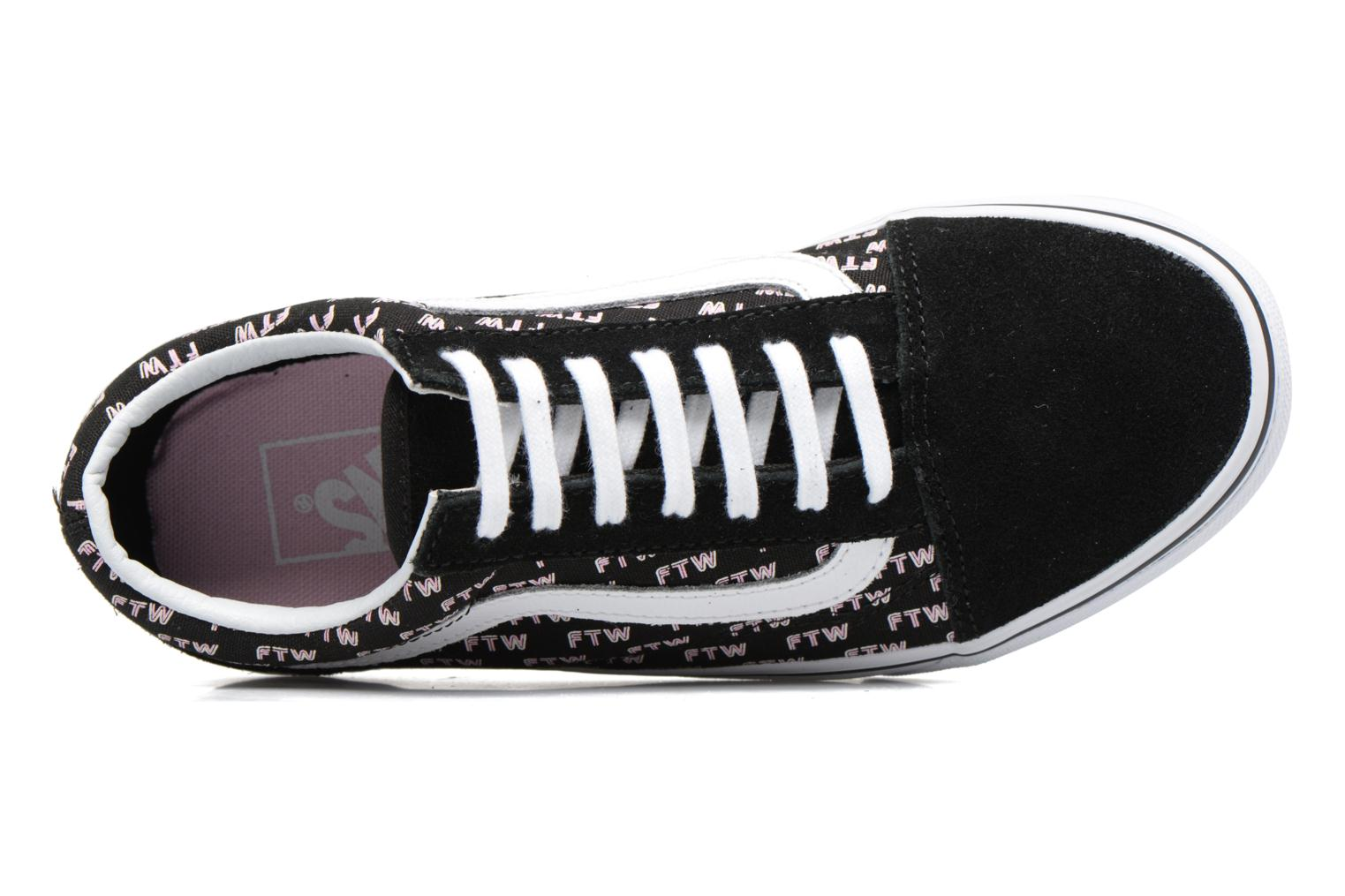 Trainers Vans Old Skool E Black view from the left