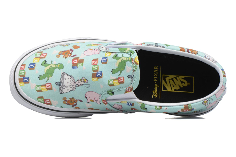 Sneaker Vans Slip-On blau ansicht von links