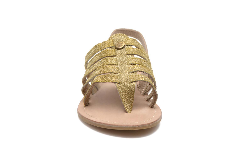 Sandals Initiale Paris Menthe K Bronze and Gold model view