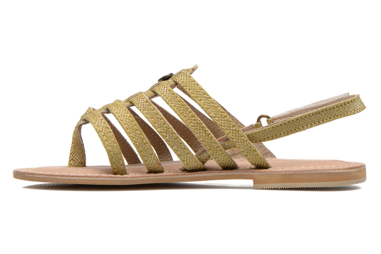 Sandales et nu-pieds Initiale Paris Menthe K Or et bronze vue face