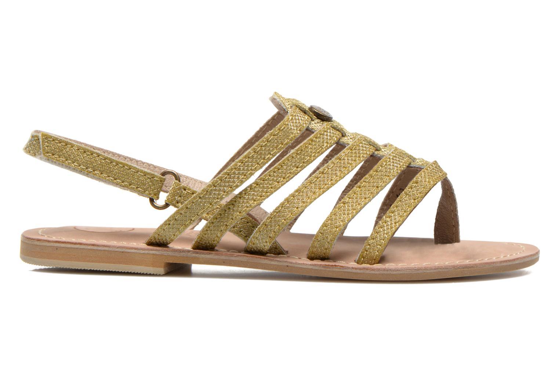 Sandales et nu-pieds Initiale Paris Menthe K Or et bronze vue derrière