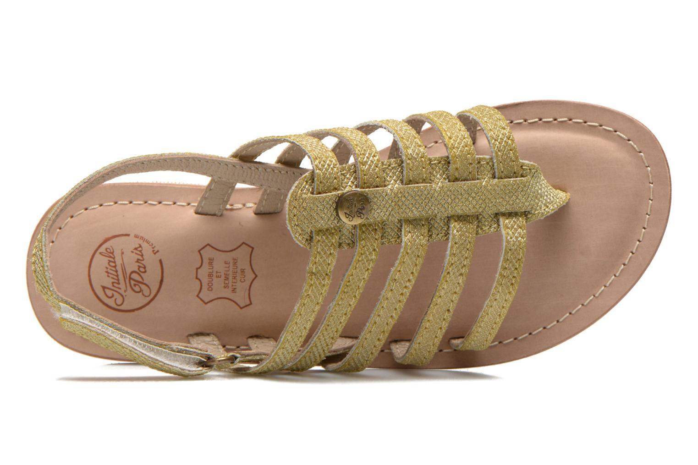 Sandales et nu-pieds Initiale Paris Menthe K Or et bronze vue gauche