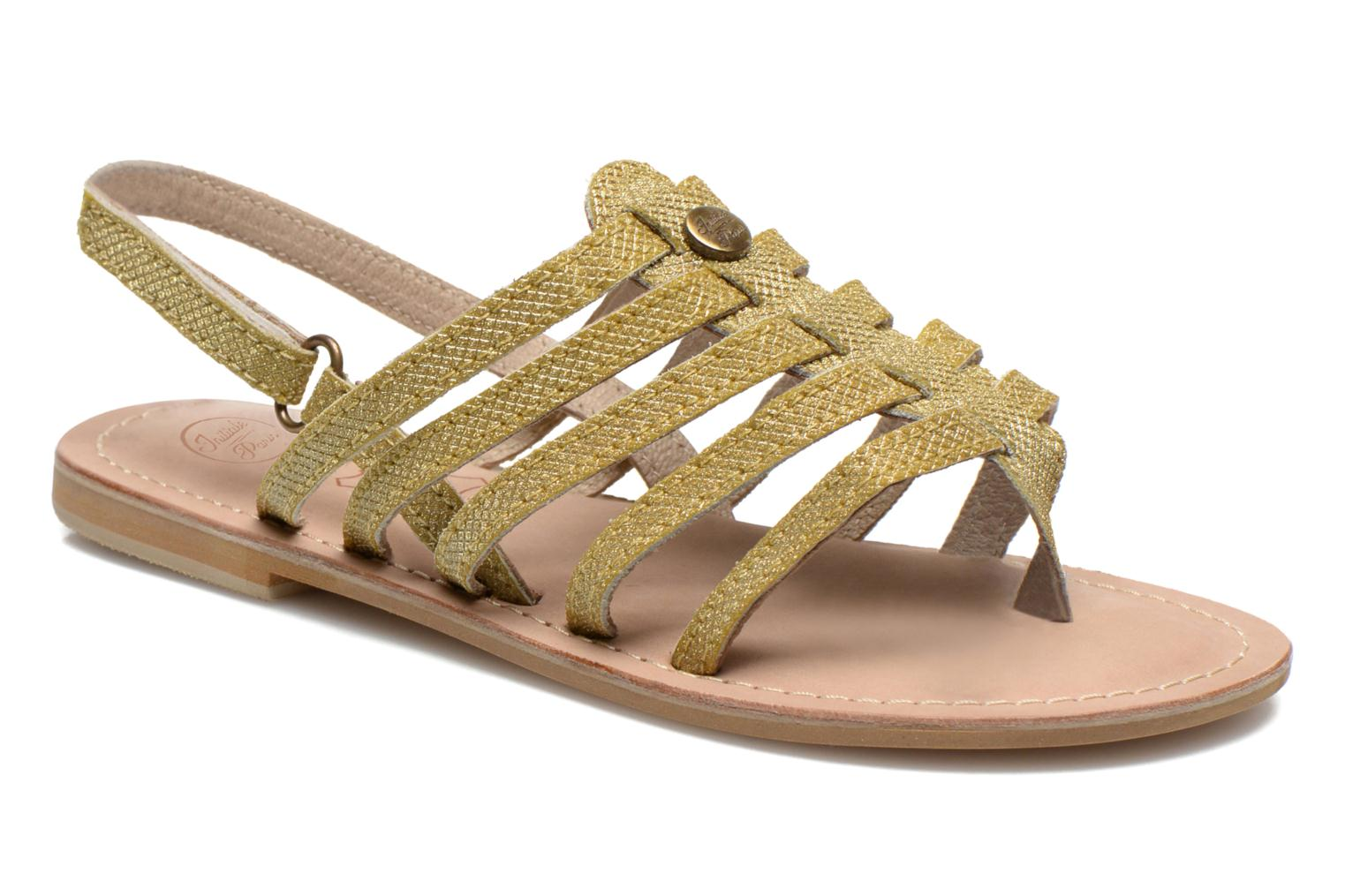 Sandals Initiale Paris Menthe K Bronze and Gold detailed view/ Pair view