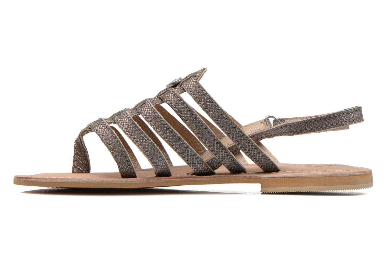 Sandales et nu-pieds Initiale Paris Menthe K Argent vue face