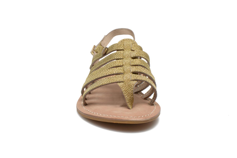 Sandales et nu-pieds Initiale Paris Menthe Or et bronze vue portées chaussures