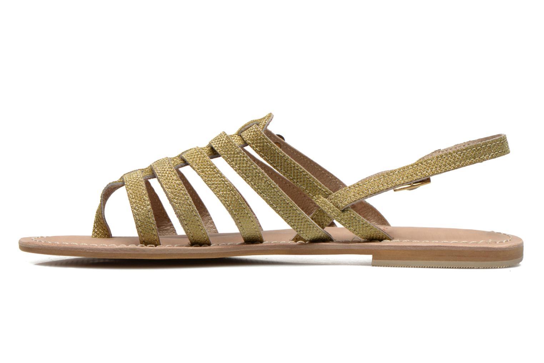 Sandales et nu-pieds Initiale Paris Menthe Or et bronze vue face