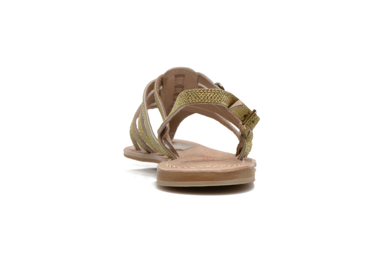Sandales et nu-pieds Initiale Paris Menthe Or et bronze vue droite