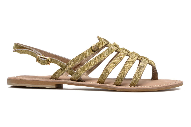 Sandales et nu-pieds Initiale Paris Menthe Or et bronze vue derrière