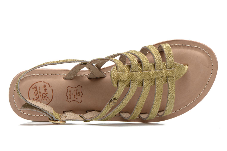 Sandales et nu-pieds Initiale Paris Menthe Or et bronze vue gauche