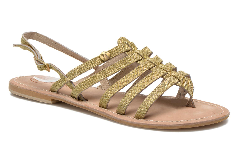 Sandales et nu-pieds Initiale Paris Menthe Or et bronze vue détail/paire