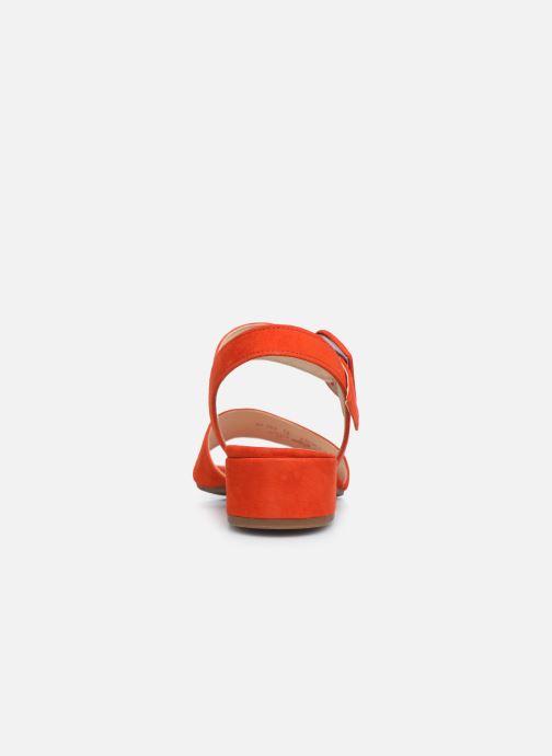 Zapatos de tacón Gabor Ida Rojo vista lateral derecha