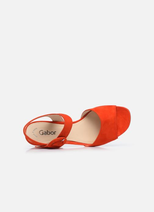 Zapatos de tacón Gabor Ida Rojo vista lateral izquierda