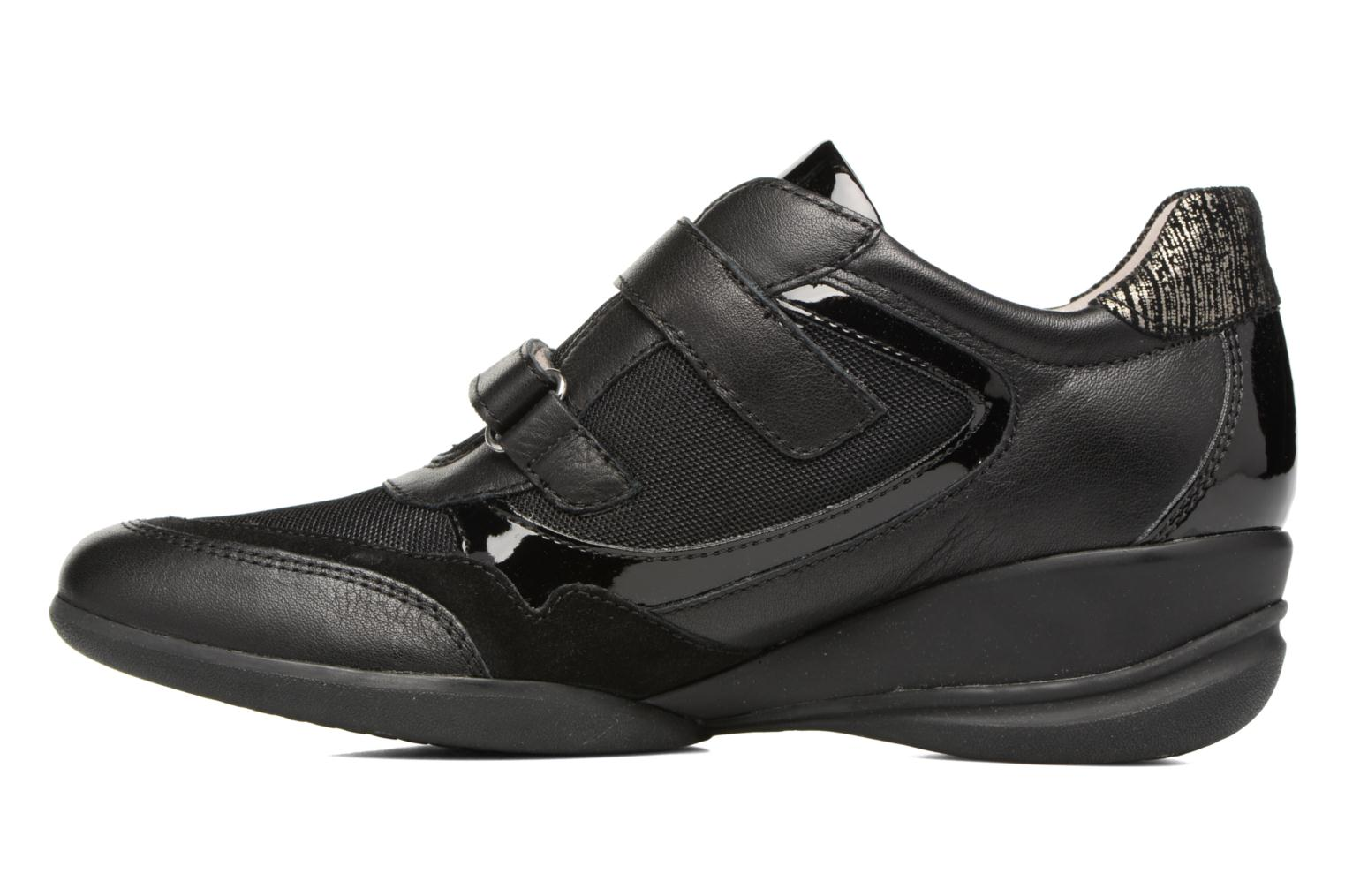 Trainers Geox D PERSEFONE A D540RA Black front view