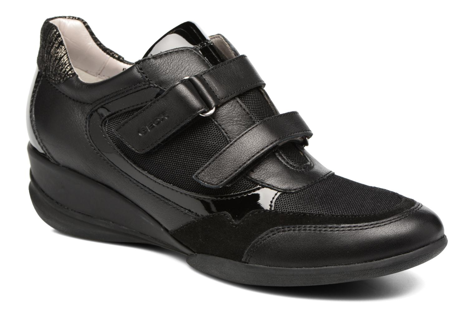 Trainers Geox D PERSEFONE A D540RA Black detailed view/ Pair view