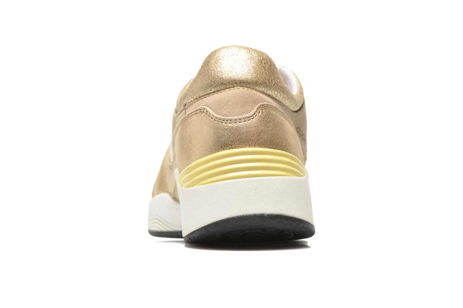 Trainers Geox D OMAYA A D540SA Bronze and Gold view from the right