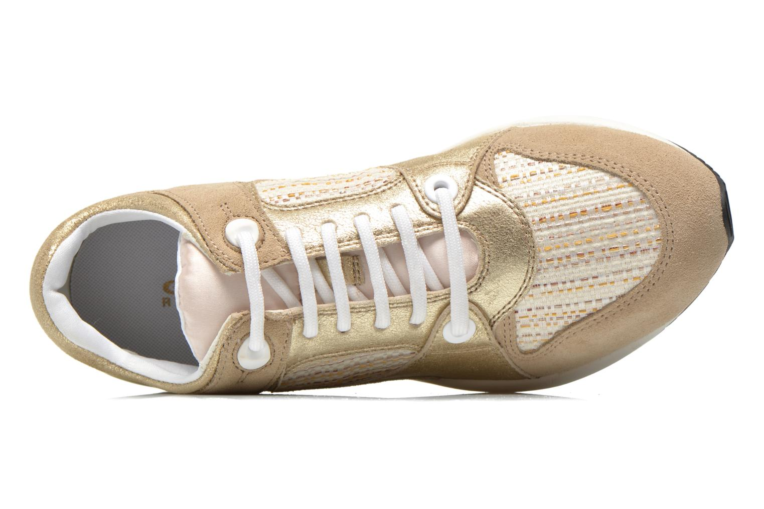 Trainers Geox D OMAYA A D540SA Bronze and Gold view from the left
