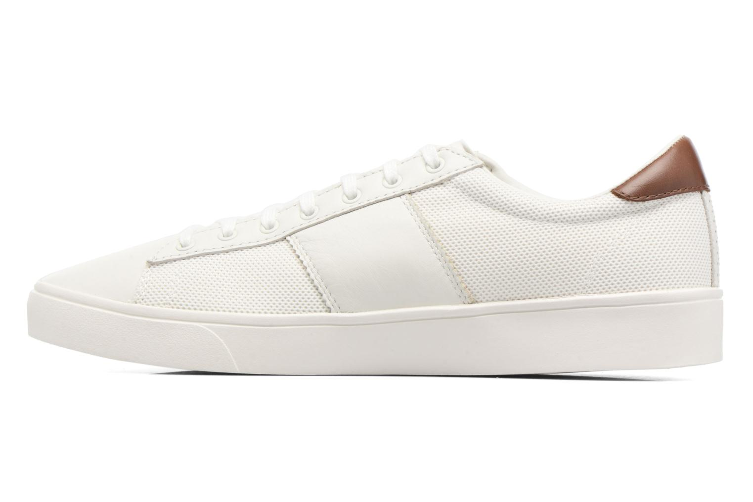 Baskets Fred Perry Spencer Mesh Leather Blanc vue face