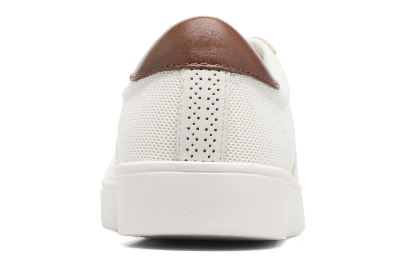 Baskets Fred Perry Spencer Mesh Leather Blanc vue droite