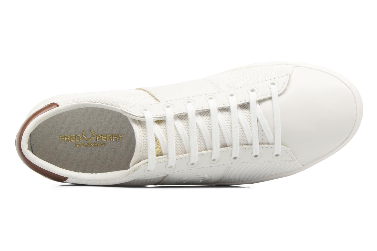 Baskets Fred Perry Spencer Mesh Leather Blanc vue gauche