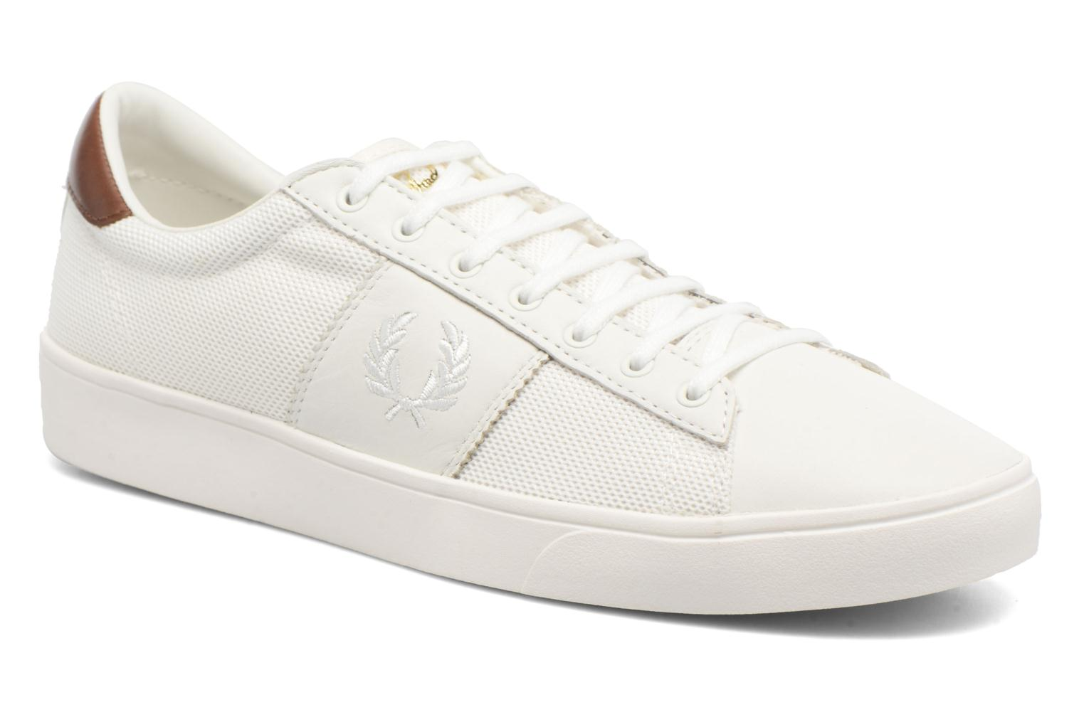 Baskets Fred Perry Spencer Mesh Leather Blanc vue détail/paire