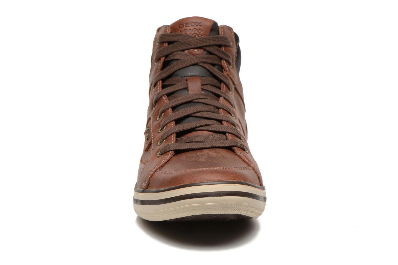 Baskets Geox U BOX E U44R3E Marron vue portées chaussures