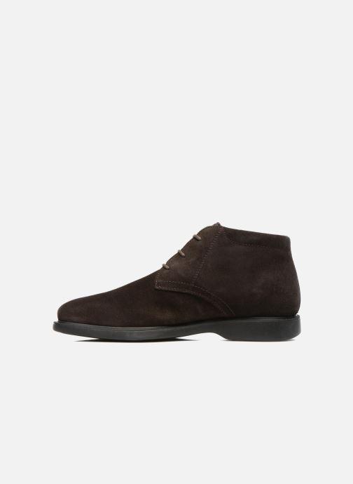 Zapatos con cordones Geox U BRAYDEN 2FIT ABX D U54N1D Marrón vista de frente