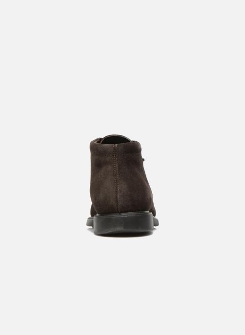 Lace-up shoes Geox U BRAYDEN 2FIT ABX D U54N1D Brown view from the right
