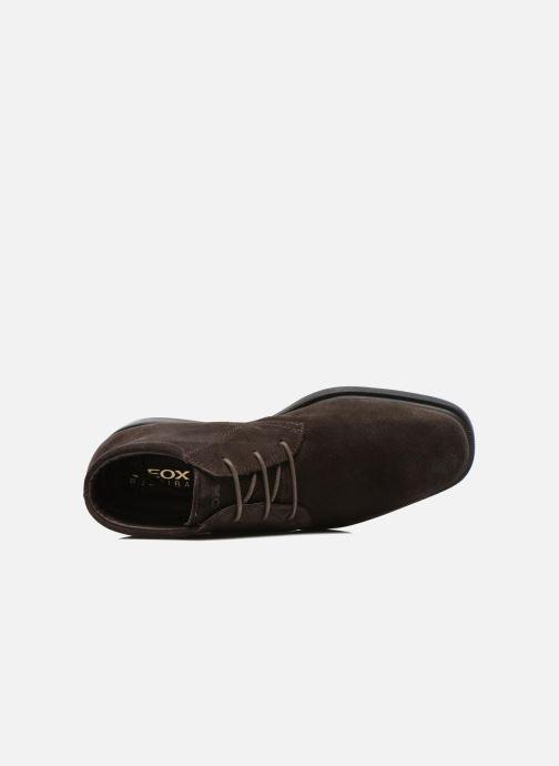 Zapatos con cordones Geox U BRAYDEN 2FIT ABX D U54N1D Marrón vista lateral izquierda