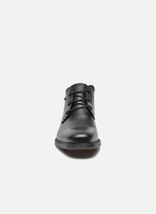 Scarpe con lacci Geox U BRAYDEN 2FIT ABX D U54N1D (Impermeabili) Nero modello indossato
