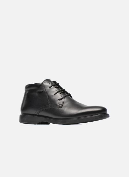 Zapatos con cordones Geox U BRAYDEN 2FIT ABX D U54N1D Negro vistra trasera