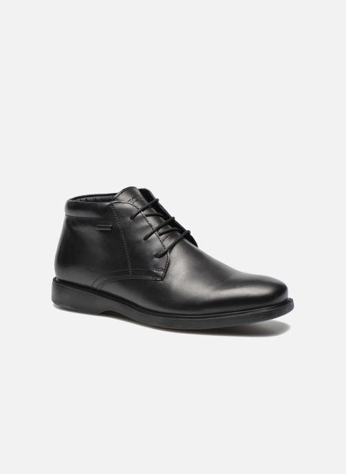 Snøresko Geox U BRAYDEN 2FIT ABX D U54N1D Sort detaljeret billede af skoene