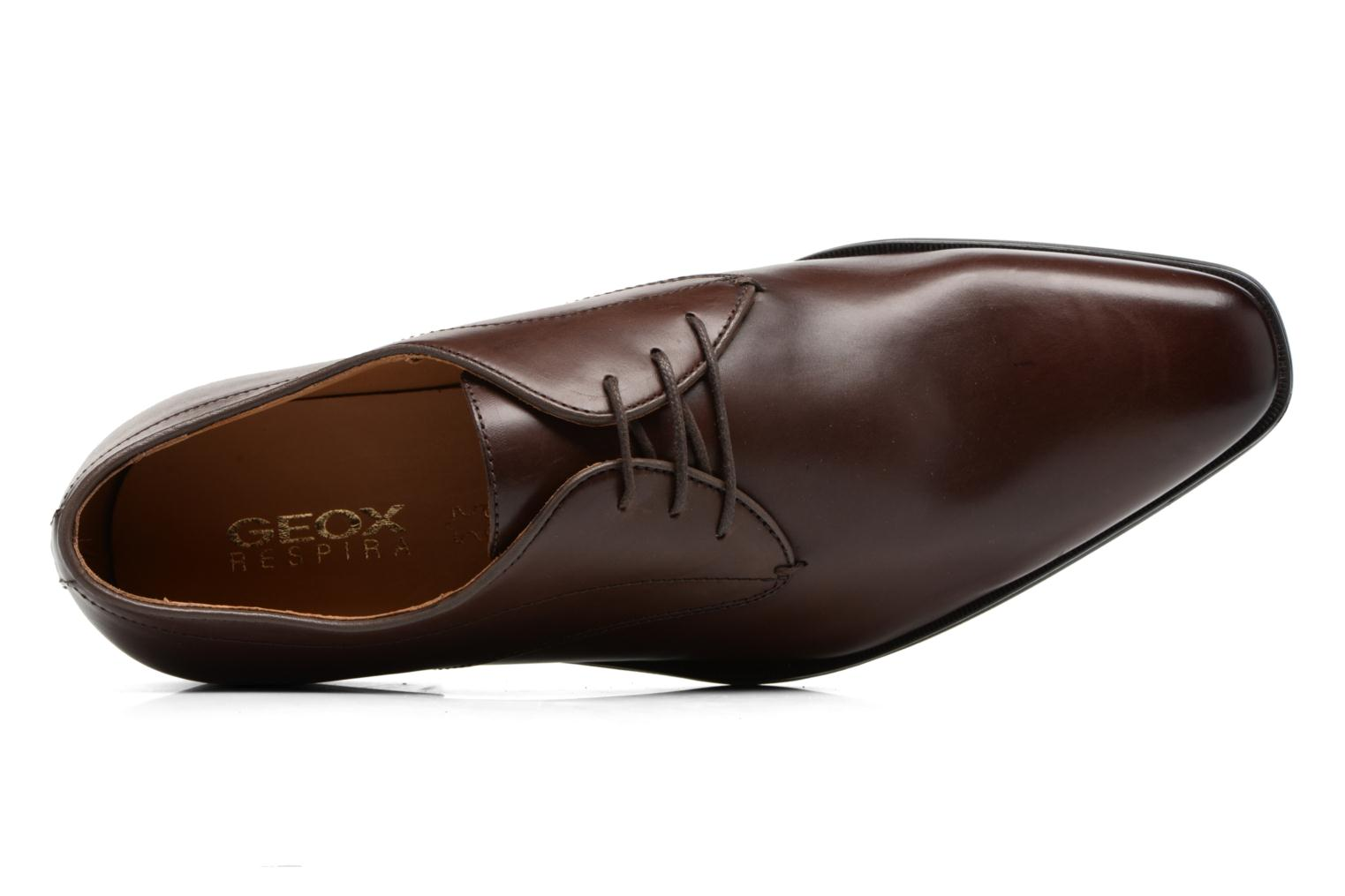 Lace-up shoes Geox U NEW LIFE A U54P4A Brown view from the left