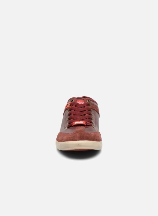 Trainers Coca-cola shoes Montreal Low Burgundy model view
