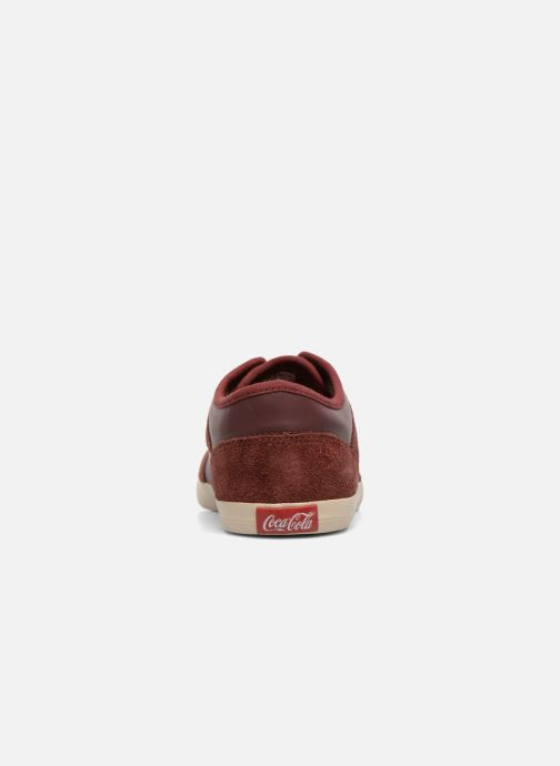 Trainers Coca-cola shoes Montreal Low Burgundy view from the right