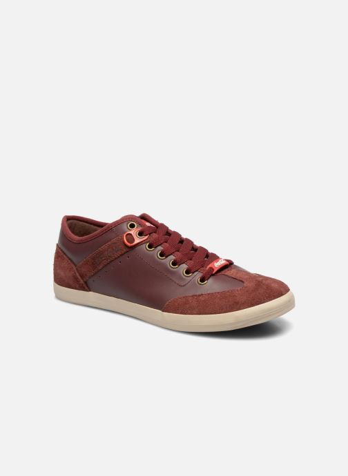 Trainers Coca-cola shoes Montreal Low Burgundy detailed view/ Pair view