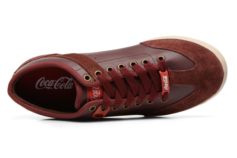 Baskets Coca-cola shoes Montreal Low Bordeaux vue gauche
