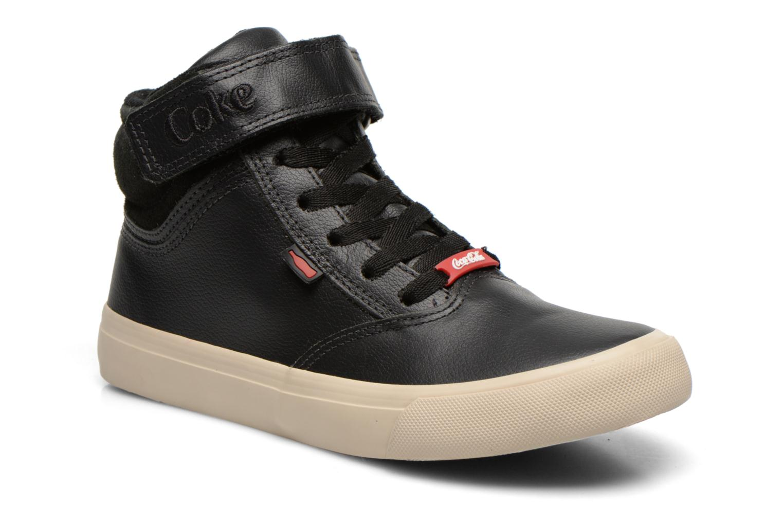 Sneakers Coca-cola shoes Mika leather Sort detaljeret billede af skoene