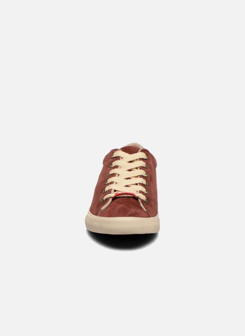 Baskets Coca-cola shoes Flux Suede Bordeaux vue portées chaussures